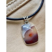 403 collier hommes mookaite, argent sterling