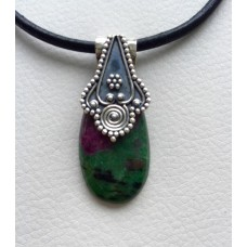407  zoisite rubis,argent sterling 2016