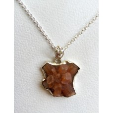413 Collier aragonite argent sterling