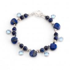 206  lapis lazuli, argent sterling, swarovski