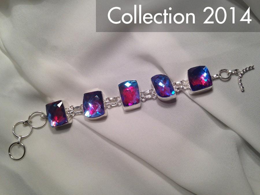 501 bracelet topaze arc en ciel argent sterling - Bracelet arc en ciel ...