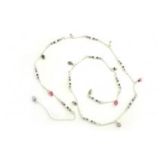 Chaine taille quartz rose